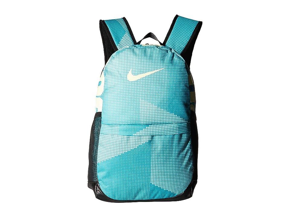 Nike Kids Brasilia Printed Backpack (Little Kids/Big Kids) (Hyper Jade/Black/Barely Volt) Backpack Bags