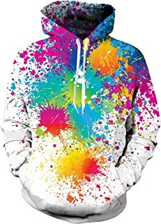 6d83eea75 Spreadhoodie Unisex 3D Print Cool Fleece Hoodie Pullover Hooded Sweatshirt  for Women Men