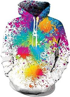 Spreadhoodie Unisex 3D Print Cool Fleece Hoodie Pullover Hooded Sweatshirt for Women Men