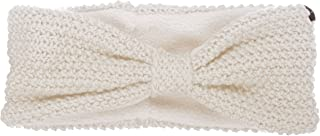 KitSound Audio Knitted Bow Headband with Built in Headphones for iPhone, iPod, Samsung and Android Devices - Cream