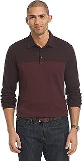 Men's Flex Long Sleeve Jaspe Colorblock Polo Shirt