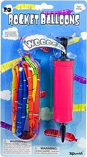 20 Rocket Balloons with Pump,(Colors May Vary),Various Packaging.