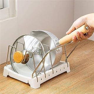 Kitchenware Rack Adjustable Pan Storage Rack Pot Lid Rack Sit Stand Chopping Board Rack Chopping Board Rack Countertop Kit...