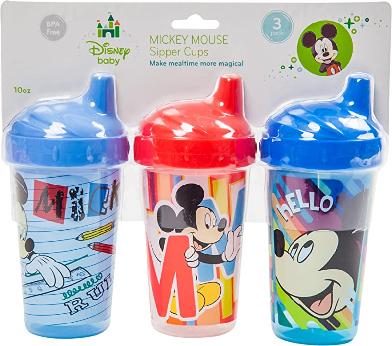 Disney Mickey Mouse Sippy Cups Blue 3 Count