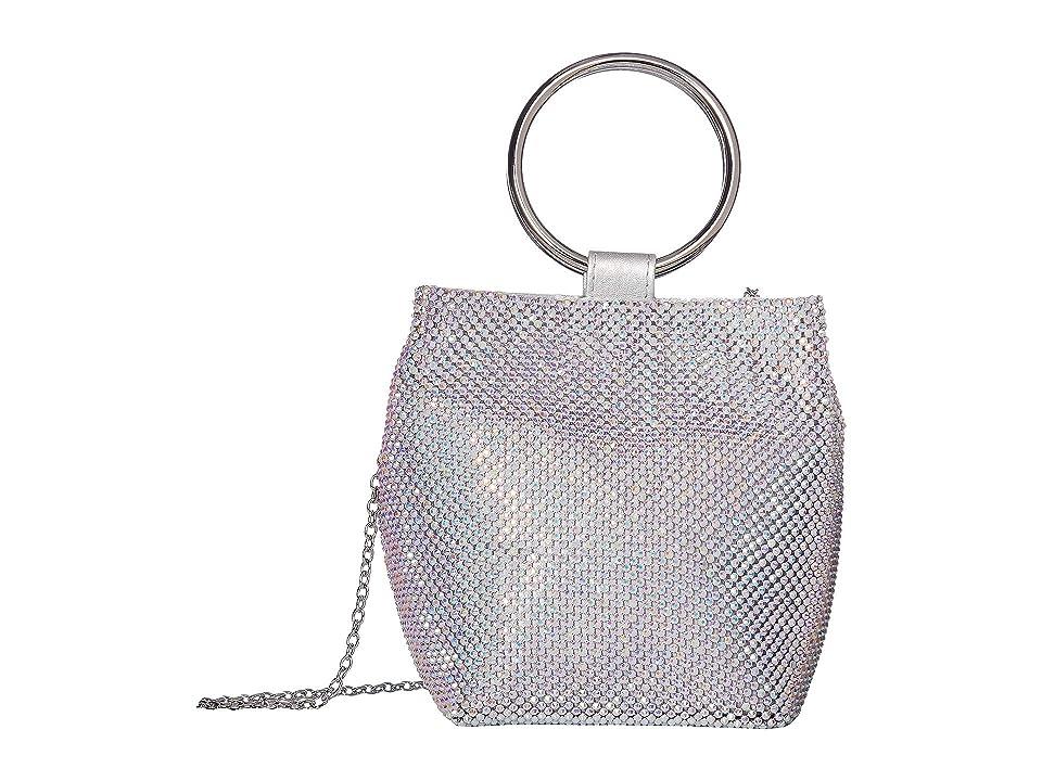 Jessica McClintock Gwen Ring Wristlet (Silver Iridescent) Handbags