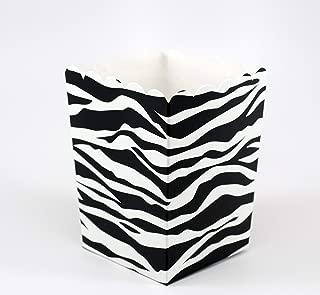 Zebra Stripe Popcorn Box | 20 Count | Black and White Stripe | 3 Inches x 4 Inches | Birthday Party - Bachelorette Party Popcorn Favors