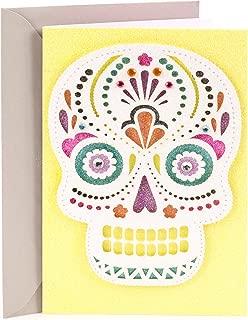 Hallmark Signature Halloween Card (Glitter Day of the Dead Skull)