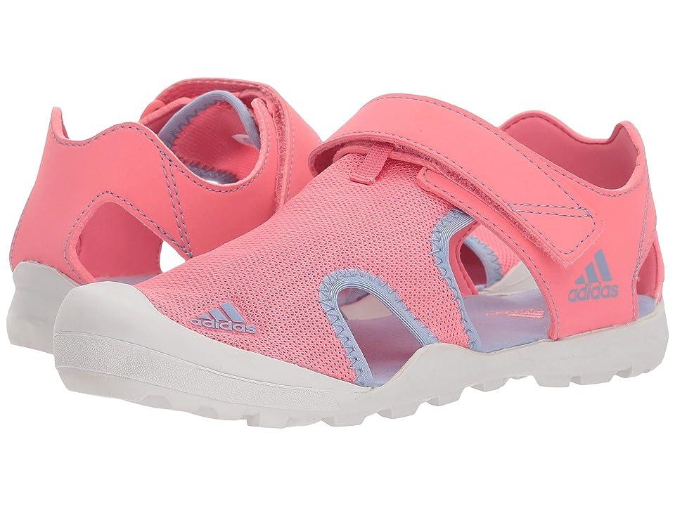 Image of adidas Outdoor Kids Captain Toey (Toddler/Little Kid/Big Kid) (Chalk Pink/Chalk Blue/Grey One) Girls Shoes
