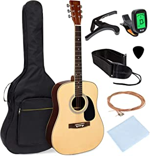 Best Best Choice Products 41in Full Size Beginner All Wood Acoustic Guitar Starter Set w/Case, Strap, Capo, Strings, Picks, Tuner - Natural Review