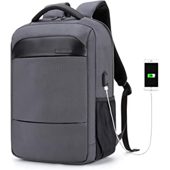 Business Laptop Backpack Water Resistant Anti-Theft Bag with USB Charging Port 14/15.6 Inch Computer Travel Backpacks for Women Men College School Student Gift,Bookbag Casual Hiking Daypack