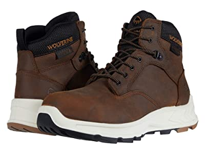 Wolverine ShiftPLUS Work LX 6 Alloy-Toe Boot (Brown) Men