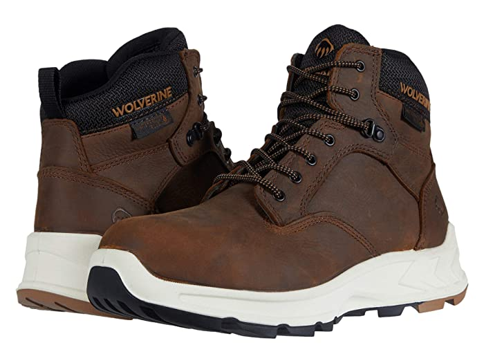 Wolverine  ShiftPLUS Work LX 6 Alloy-Toe Boot (Brown) Mens Work Lace-up Boots