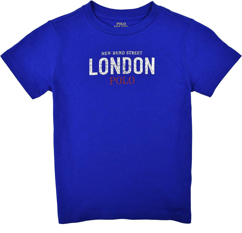 Polo Ralph Lauren Toddler Boys Bond St London Flagship Graphic Tee T-Shirt Rugby Royal Blue
