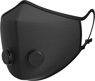 Airinum Urban Air Mask 1.0 – Reusable & Adjustable Air Mask That Protects Against PM2.5, Air Pollution, Smog and Dust – Solid Black M