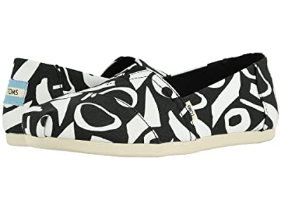 TOMS Alpargata 3.0 (Black/White Abstract Canvas Print) Women
