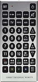 Best Universal Remote Jumbo Universal Remote (6 Devices - Tv, Vcr, Dvd, Cable, Aux & Sat) Review