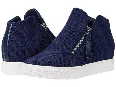 Steve Madden Click Wedge Sneaker (Navy) Women