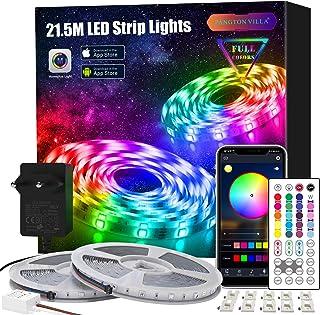 LED Strip 21.5m, APP Steuerung LED Streifen Leiste mit Fernbedienung Netzteil, RGB Led Band Lichter Lichtband für Schlafzi...