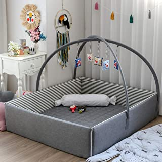 Joyful Bumper Baby Bed Crib (Black)