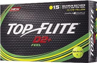 Top-Flite D2+ Feel Yellow Golf Balls – 15 Pack