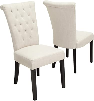 Christopher Knight Home 238618 Venetian Dining Chairs, 2-Pcs Set, Light Beige