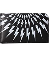 Neil Barrett - Thunderbolt Fair Isle Card Holder