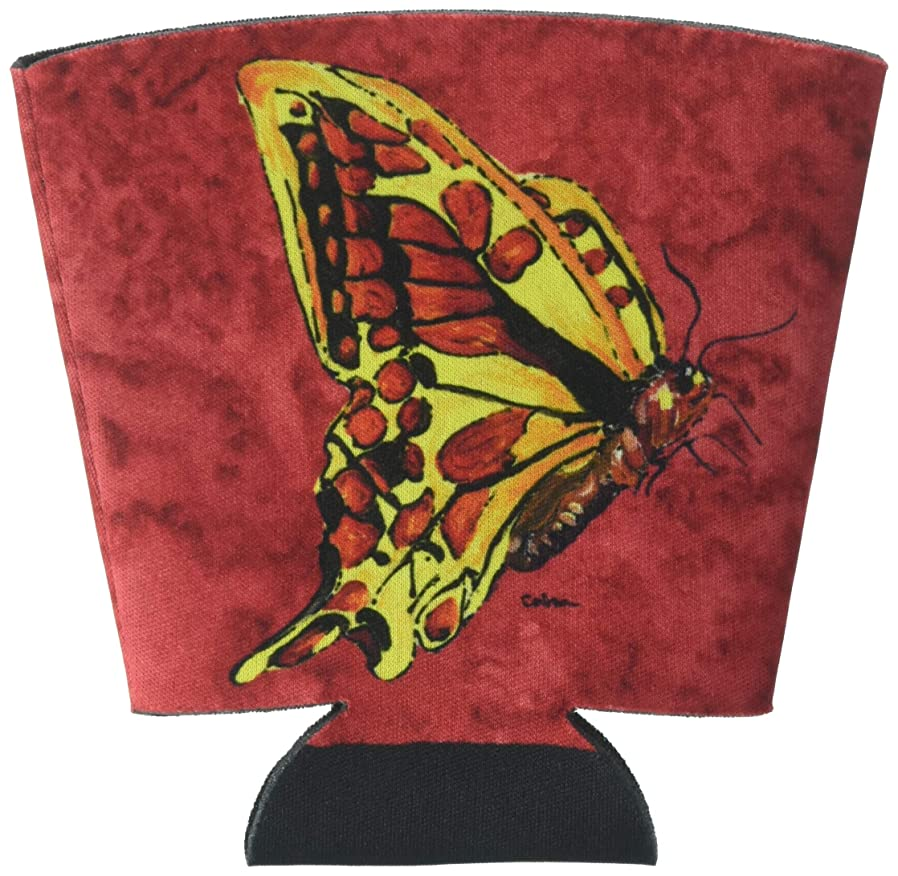 Butterfly on Red Red Solo Cup Beverage Insulator Hugger bjmsznsm64994