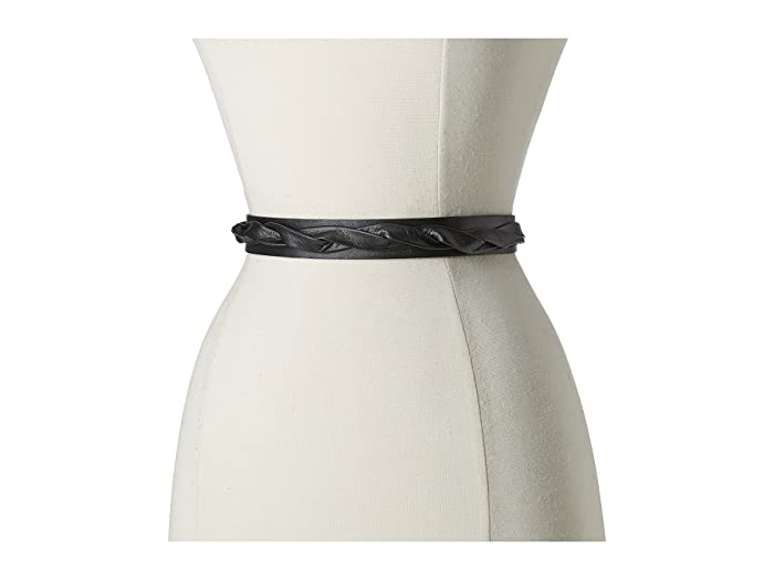ADA Collection Skinny Wrap Belt (Black) Women