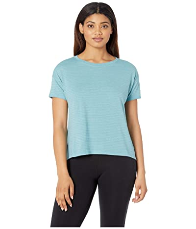 The North Face Short Sleeve Emerine Top (Canal Blue Desert Stripe) Women