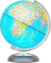 Illuminated World Globe for Kids with Stand – Built-in LED Light Illuminates for Night View – Colorful, Easy-Read Labels o...