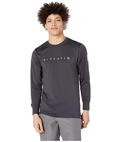 Rip Curl Dawn Patrol Surf Tee Long Sleeve (Charcoal) Men