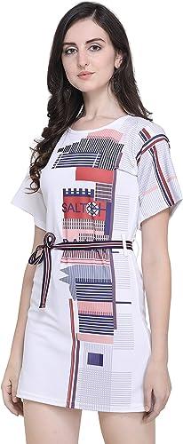 J B Women Printed Dress With Half Sleeves For Office Wear Casual Wear Dress For Women Girls Dress