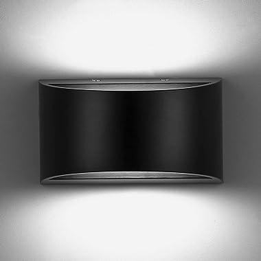 ENCOFT 10W Applique Murale Intérieur à COB LED, Lampe Murale en Aluminium Moderne Up Down Eclairage Lumière Froide 6500K pour