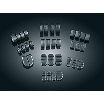 Kuryakyn Adjustable Chrome Rubber Dually ISO Footpeg Comfort Pegs Pair Harley