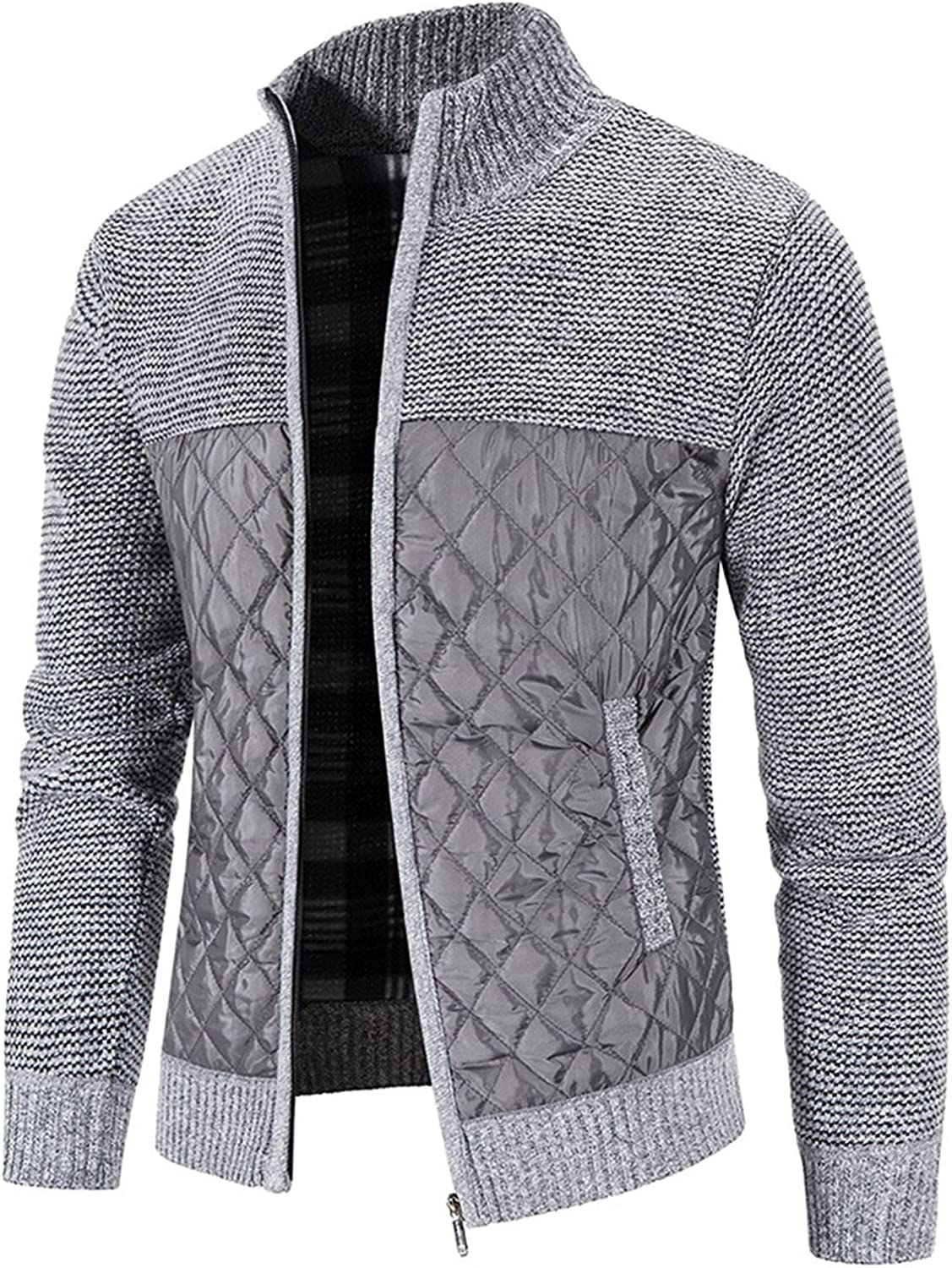 Lightweight mens Low price jackets Men's Cotton-padded Cardigan Knitted Ja Max 90% OFF