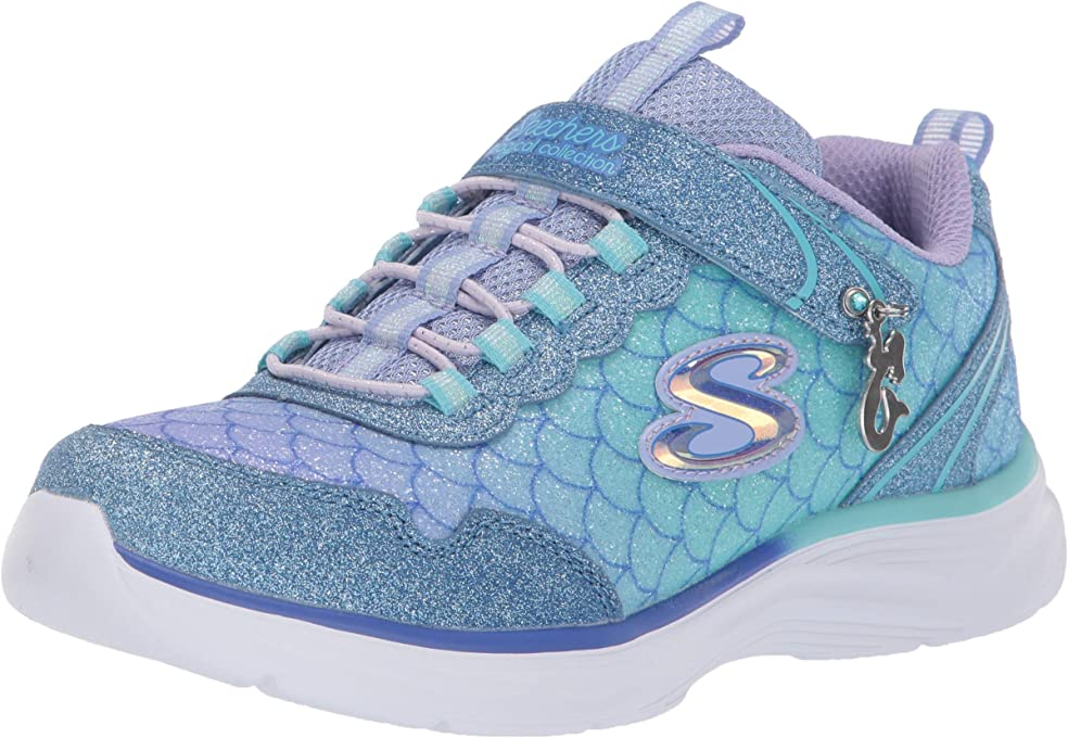 Skechers Glimmer Kicks - Sea Sparkle Girls Sneakers, Light Blue/Multi