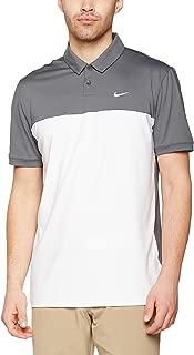 Nike Golf Icon Color Block Polo (Dark Grey/White) XL