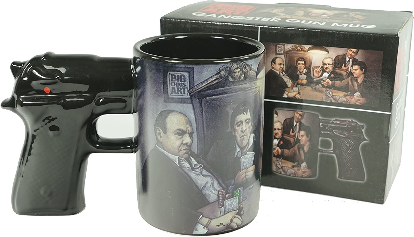 Big Chris Art Gangster Gun Mug 15oz