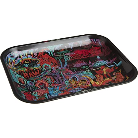 Raw papiers métal Rolling Tray /& couvre