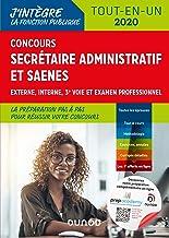 Livres Concours Secrétaire administratif et SAENES : Tout-en-un - Concours 2020 (Fonction Publique d'État t. 3) PDF