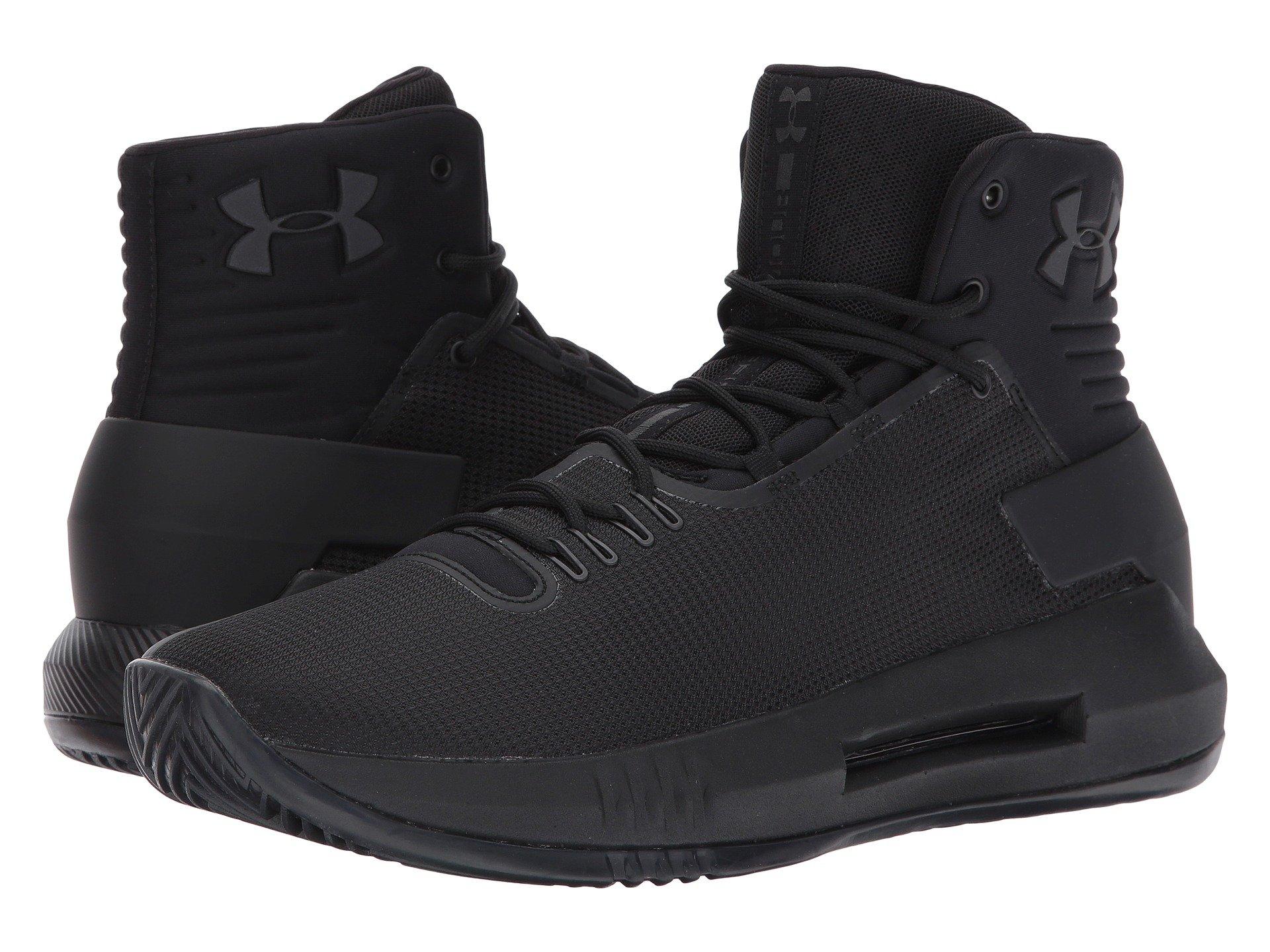 Mens Ua Drive 4 Basketball Shoes, Black Under Armour