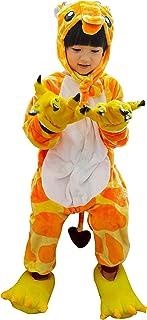 Pijama de Una Pieza Niño Niña con Capucha Pijamas Invierno Ropa de Dormir Disfraz Animale Jirafa Cosplay Disfraz Halloween Caliente Suave 2 a 12 Años