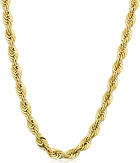 14k Yellow Gold Filled 4.2mm Rope Chain Necklace (16, 18, 20, 22, 24, 26, 30 or 36 inch)