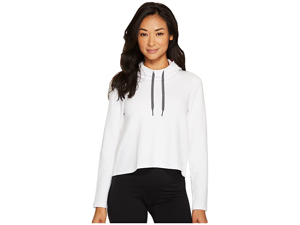 Under Armour Plush Terry Hoodie (White/Marathon Red/Tonal) Women