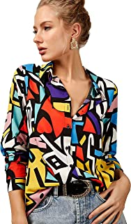 Blouses for Women Fashion, Casual Long Sleeve Button Down...