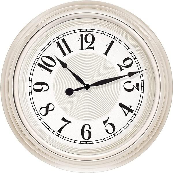 Westclox 32939 15 5 In White Embossed Detail Dial Wall Clock