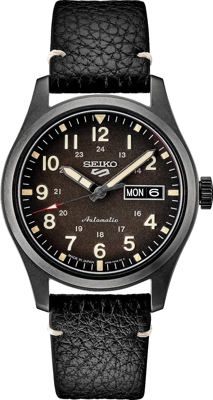 Seiko SRPG41 Seiko 5 Sports Mens Watch Black 39.4mm Stainless Steel
