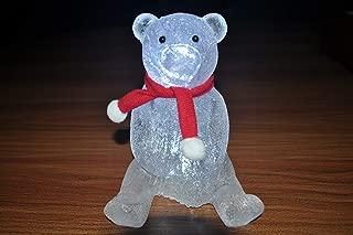 WARMEET LED Night Light Christmas Acrylic Cartoon Light Up Decorations Oranments for Home Party Gifts Kid's Room Décor,3 Pcs.(Bear+ Snowman+Penguin)