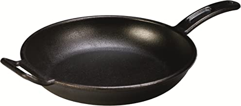 Lodge Pro-Logic Seasoned Cast Iron Skillet - 12 Inch Modern Design Cast Iron Frying Pan with Assist Handle (Made in USA)