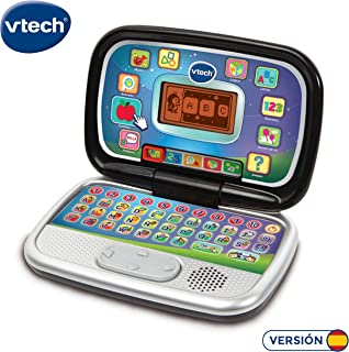 VTech Diverblack PC - Ordenador iInfantil educativo para aprender en casa, enseña diferentes materias a Través de sus voces, frases y melodías (80-196322)